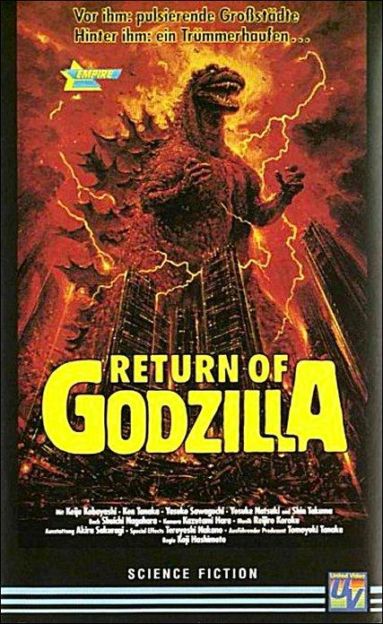 Godzilla 1985 DVD-Cover